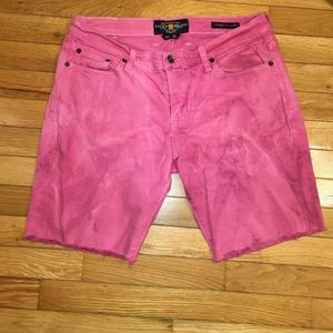 Pink tie-dyed Lucky Brand Jean Shorts